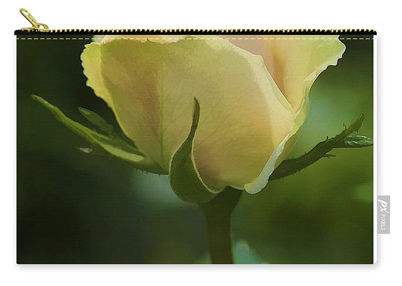 Rose Carry-all Pouch featuring the photograph Watercolor Rose by Deborah Benoit