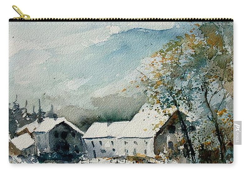 River Carry-all Pouch featuring the painting Watercolor Sechery 1207 by Pol Ledent