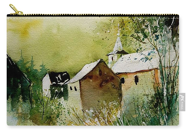 Landscape Carry-all Pouch featuring the painting Watercolor Sosoye by Pol Ledent