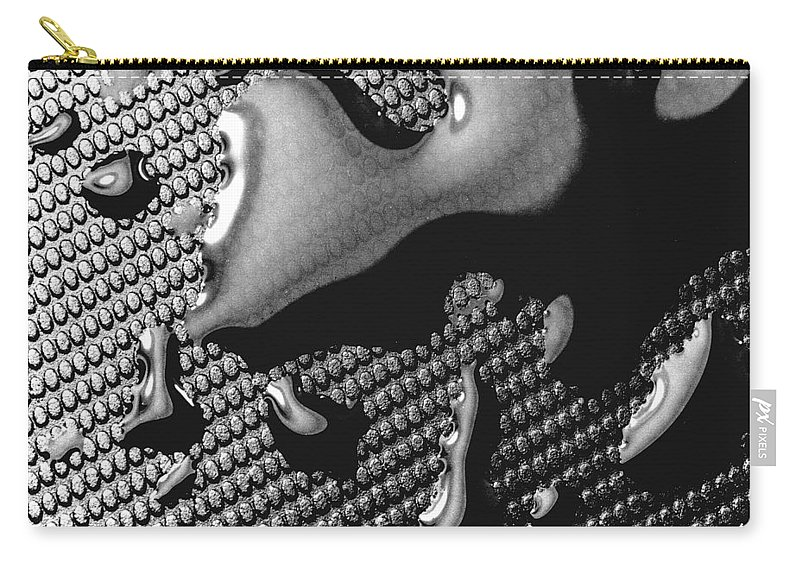 Water Drop Carry-all Pouch featuring the photograph Waterdrop 5 by Nancy Mueller