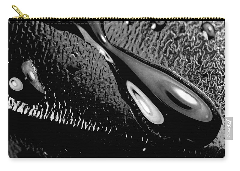 Water Carry-all Pouch featuring the photograph Waterdrop 6 by Nancy Mueller