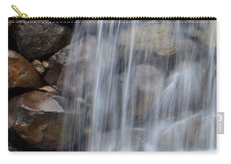 Waterfall Carry-all Pouch featuring the photograph Waterfall 1 by Carol Groenen
