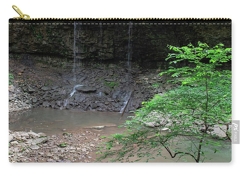 Waterfall Carry-all Pouch featuring the photograph Waterfall Base by Wesley Farnsworth