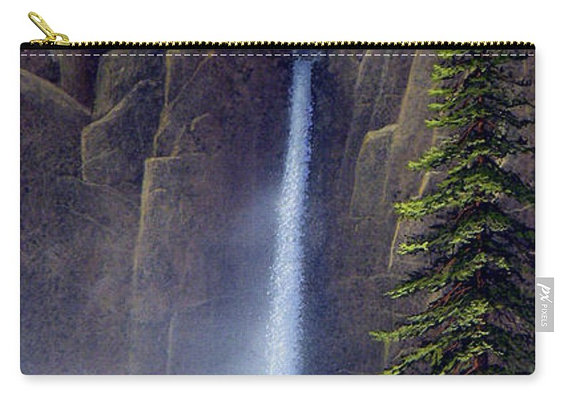 Wilderness Carry-all Pouch featuring the painting Waterfall by Frank Wilson