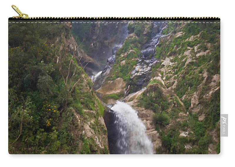 Highlands Carry-all Pouch featuring the photograph Waterfall Highlands Of Guatemala 1 by Douglas Barnett