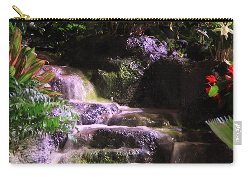Waterfall Carry-all Pouch featuring the photograph Waterfall by Nicole Dunkelberger