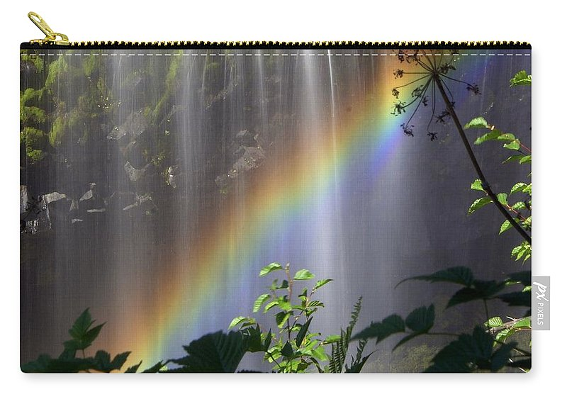 Waterfall Carry-all Pouch featuring the photograph Waterfall Rainbow by Marty Koch