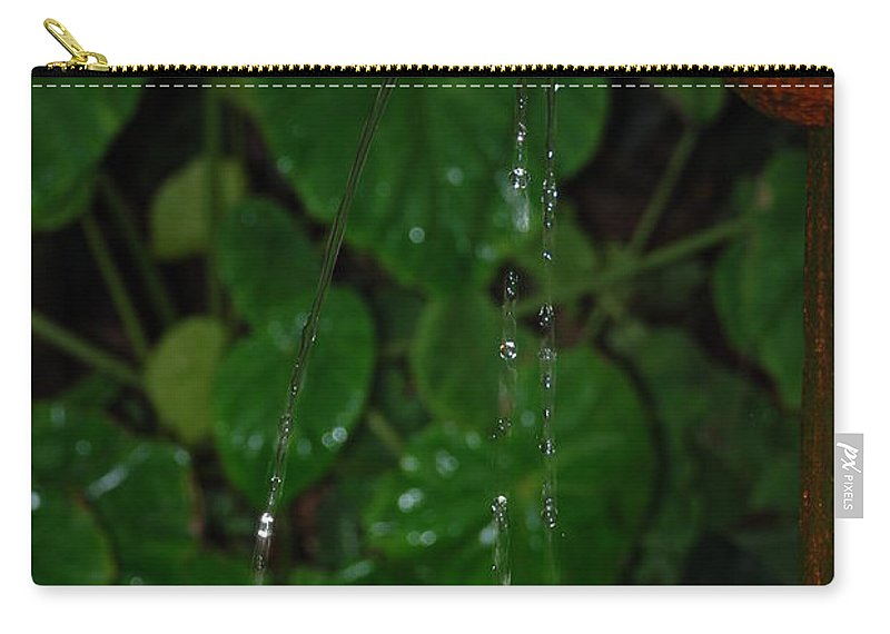 Macro Carry-all Pouch featuring the photograph Waterfall by Rob Hans