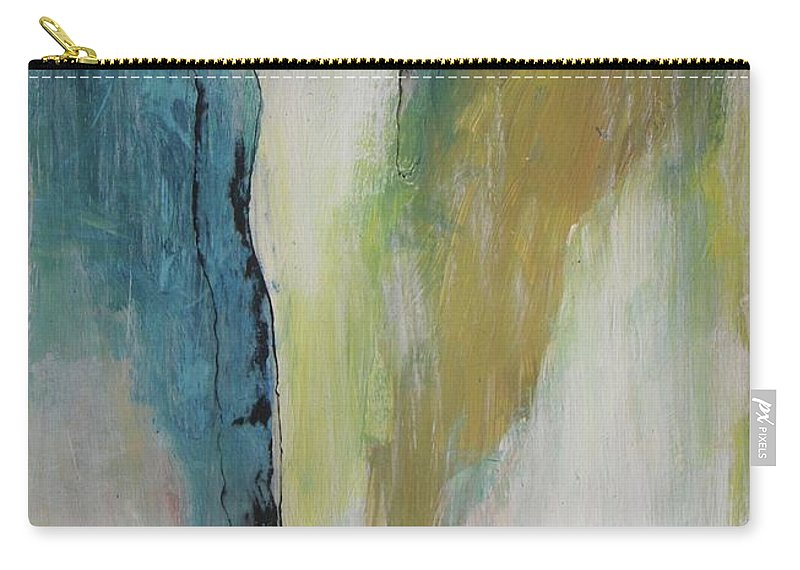 Abstract Carry-all Pouch featuring the painting Waterfall by Vesna Antic