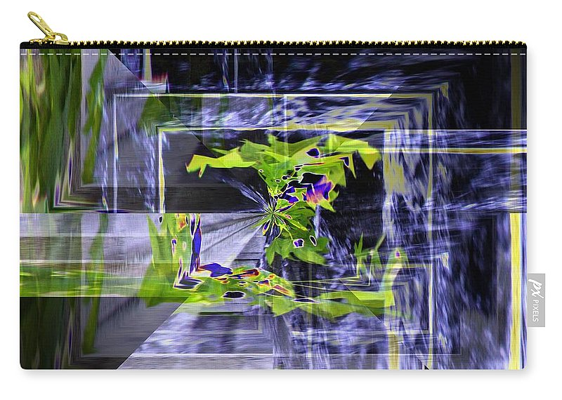 Seattle Carry-all Pouch featuring the photograph Waterfall Vortex by Tim Allen
