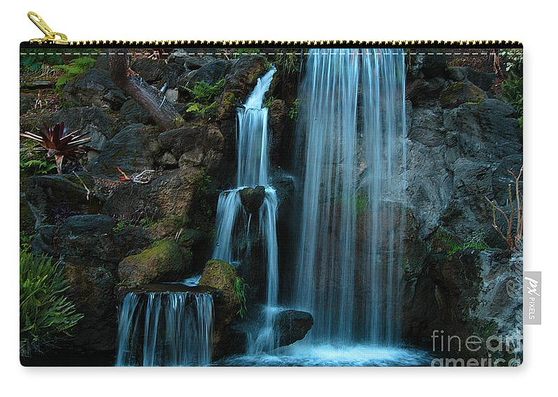 Clay Carry-all Pouch featuring the photograph Waterfalls by Clayton Bruster