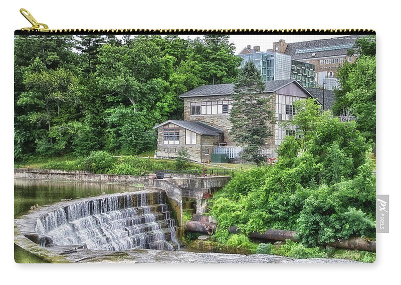 Cornell University Carry-all Pouch featuring the photograph Waterfalls Cornell University Ithaca New York 04 by Thomas Woolworth