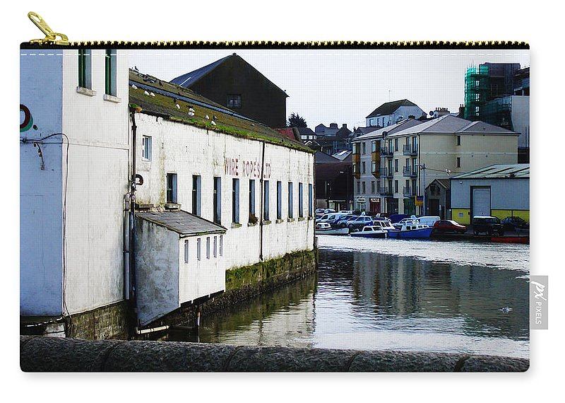 River Carry-all Pouch featuring the photograph Waterfront Factory by Tim Nyberg