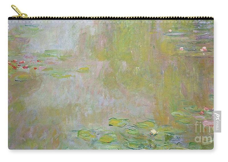 Waterlilies At Giverny Carry-all Pouch featuring the painting Waterlilies at Giverny by Claude Monet
