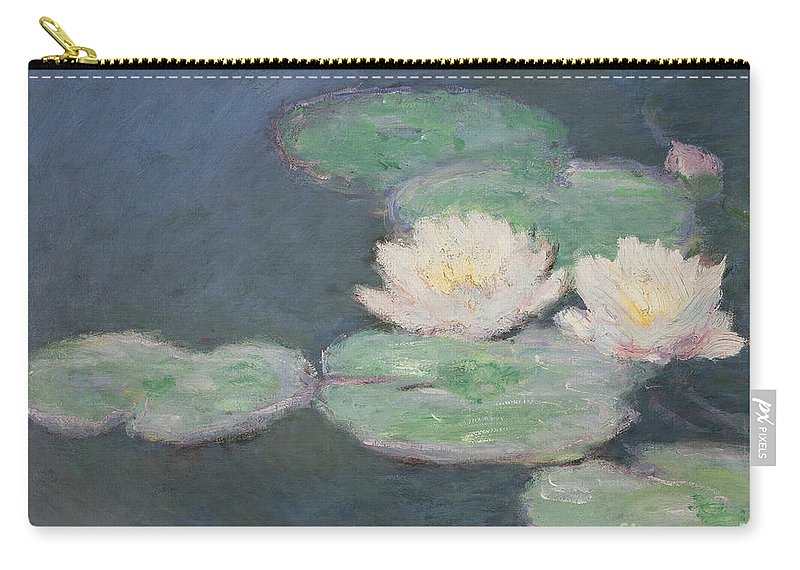 Waterlilies Carry-all Pouch featuring the painting Waterlilies by Claude Monet