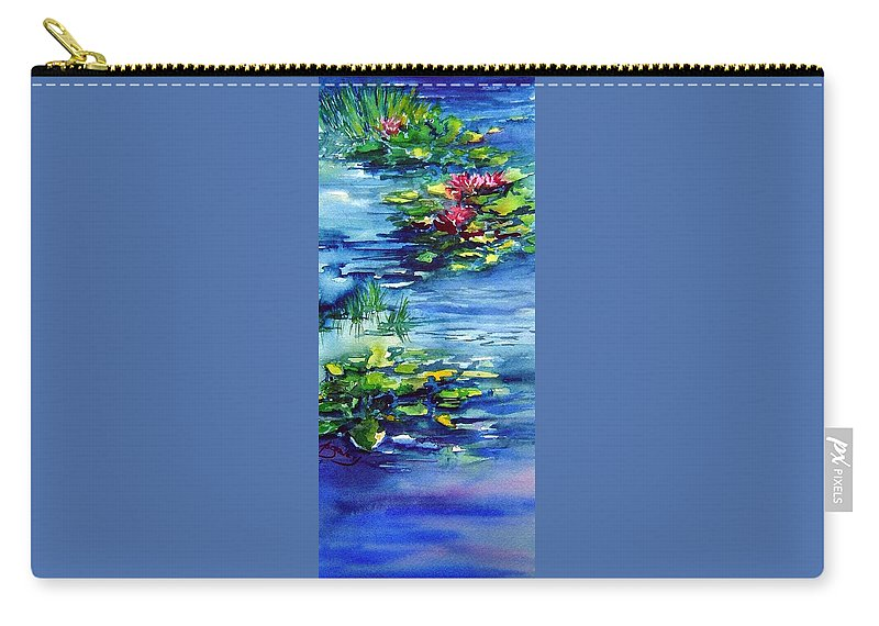 Waterlilies Carry-all Pouch featuring the painting Waterlilies by Joanne Smoley