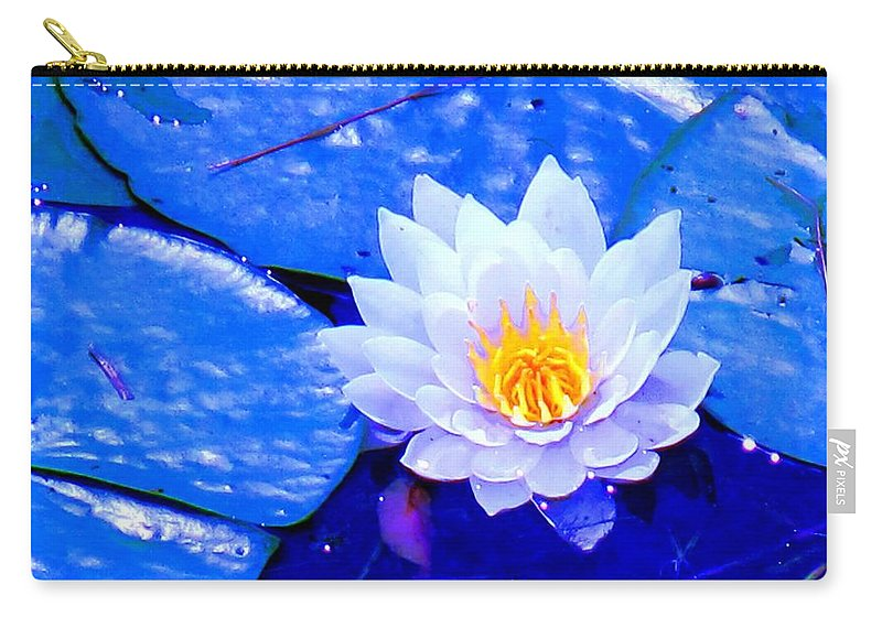 Waterlilly Carry-all Pouch featuring the photograph Blue Water Lily by Ian MacDonald