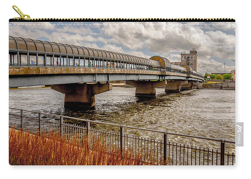Waterloo Carry-all Pouch featuring the photograph Waterloo Iowa Bridge by Amel Dizdarevic