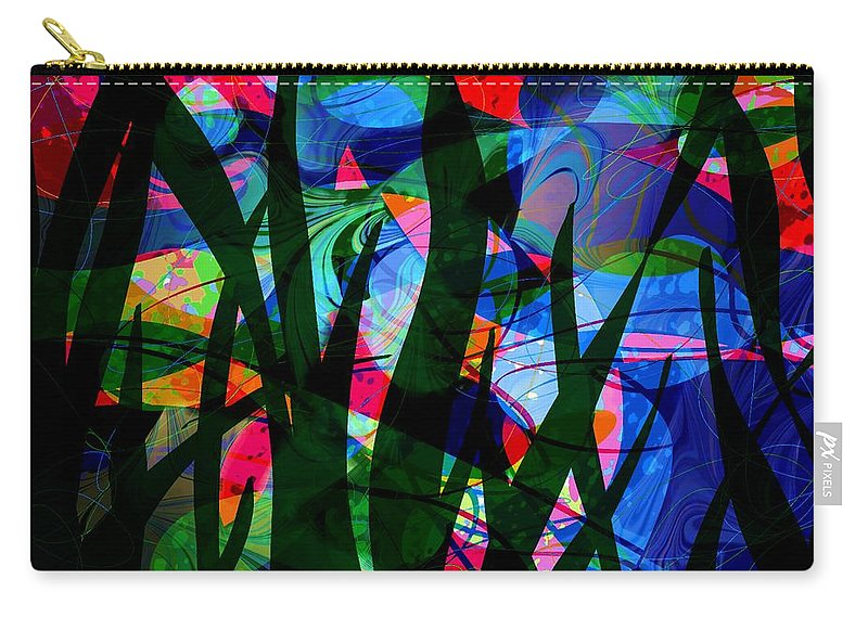 Abstract Carry-all Pouch featuring the digital art Watermelon And A Swim by Rachel Christine Nowicki