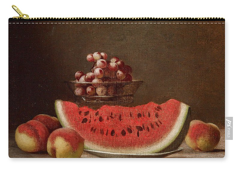 Watermelon Still Life Carry-all Pouch featuring the painting Watermelon Still Life by Barton Stone Hays