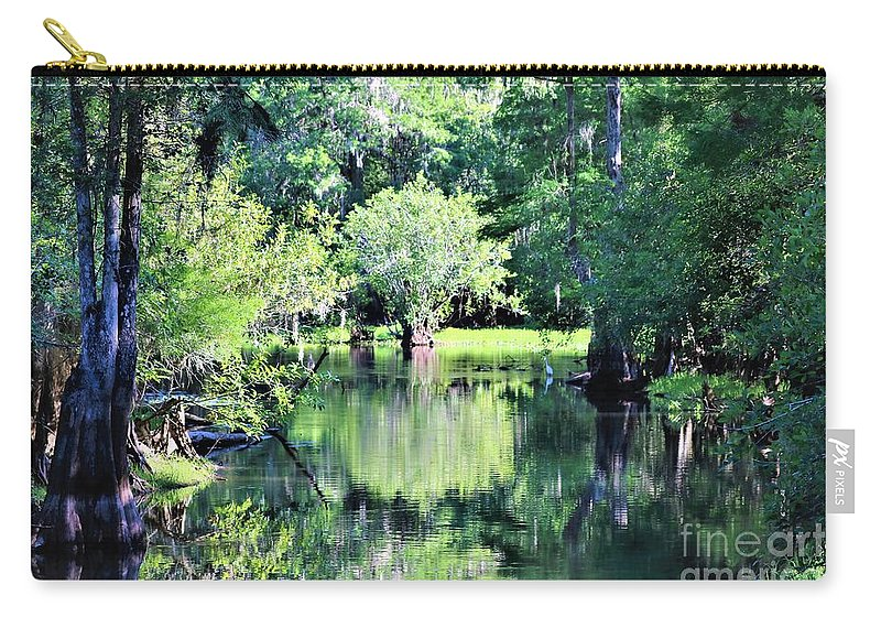 Reflections Carry-all Pouch featuring the photograph Waterscape #1 Hillsborough River by Diann Fisher
