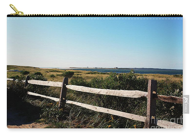 Seascape Carry-all Pouch featuring the photograph Waterview by Lori Tambakis