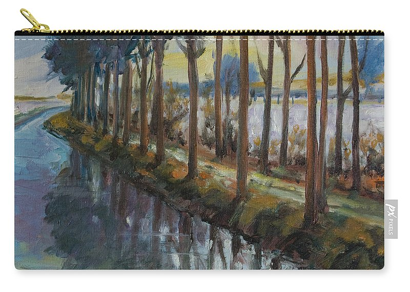 Trees Carry-all Pouch featuring the painting Waterway by Rick Nederlof
