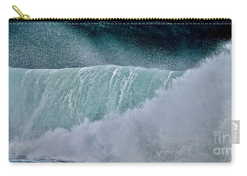 Ocean Carry-all Pouch featuring the photograph Eternal Wave by Debra Banks
