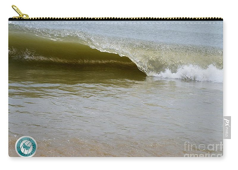 Water Carry-all Pouch featuring the photograph Wave At Sandbridge Virginia by Jannice Walker