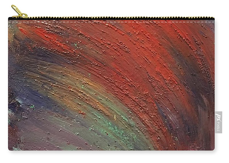 Abstract Carry-all Pouch featuring the painting Wave by Margaret Fronimos