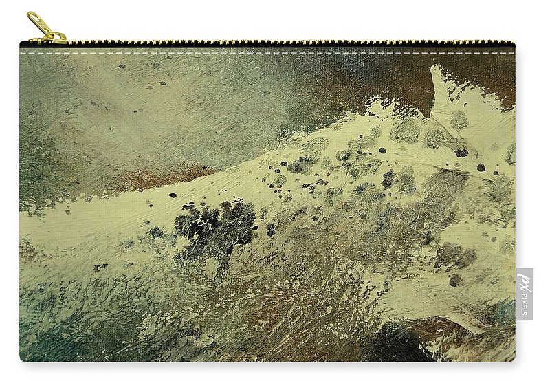 Sea Carry-all Pouch featuring the painting Wave by Pol Ledent