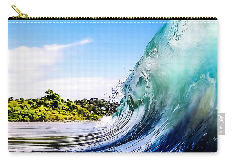 Wave Carry-all Pouch featuring the photograph Wave Wall by Nicklas Gustafsson