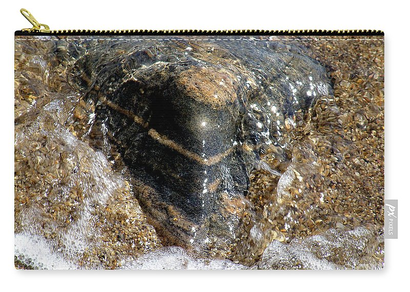 Wave Carry-all Pouch featuring the photograph Wavelet Caress by RC DeWinter