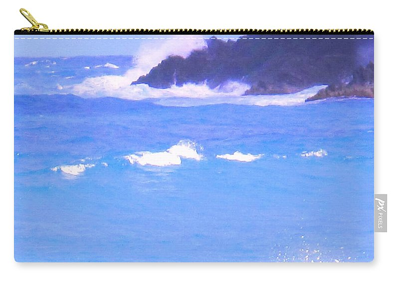 Ocean Carry-all Pouch featuring the photograph Waves Crashing by Ian MacDonald