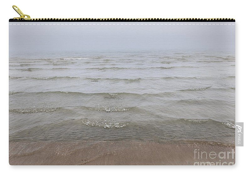 Waves Carry-all Pouch featuring the photograph Waves In Fog by Elena Elisseeva
