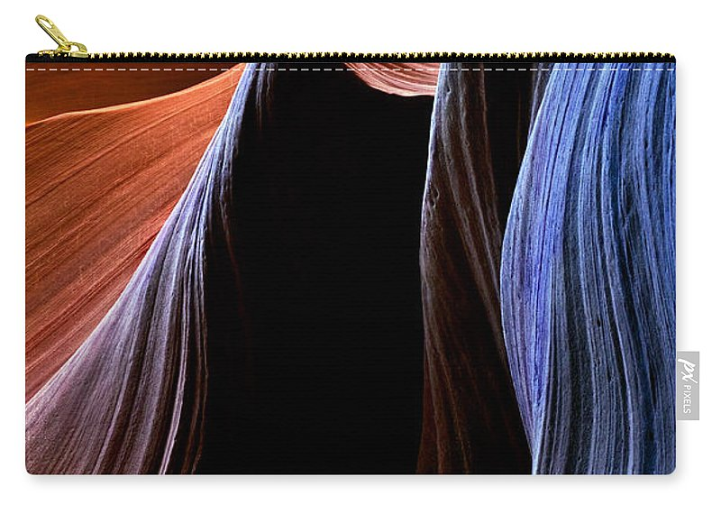 Sandstone Carry-all Pouch featuring the photograph Waves by Mike Dawson
