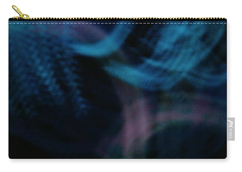 Blue Purple Blues Waves Colors Carry-all Pouch featuring the photograph Waves Of Blue And Purple by Cindy New