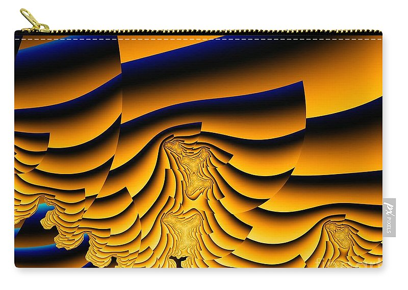 Fractal Image Carry-all Pouch featuring the digital art Waves Of Grain by Ron Bissett