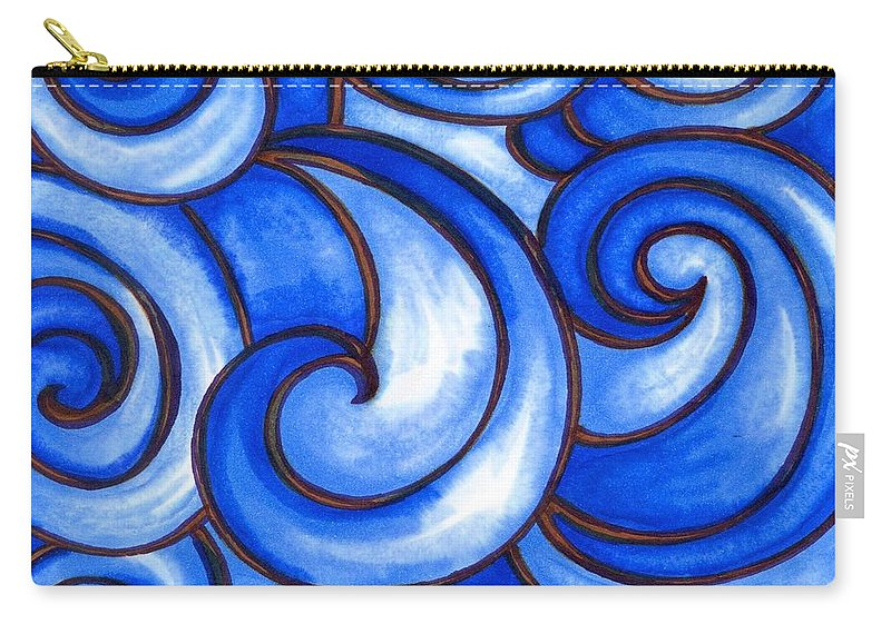 Water Carry-all Pouch featuring the painting Waves of Mercy by Vonda Drees