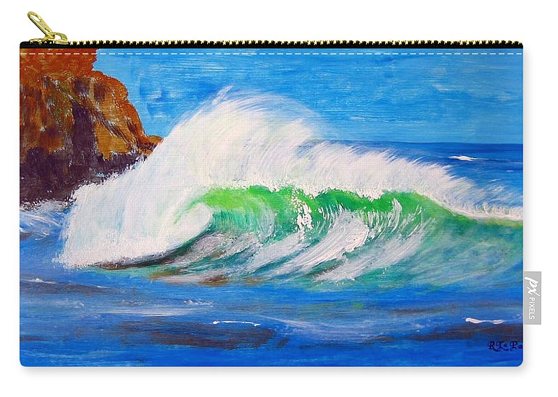 Waves Carry-all Pouch featuring the painting Waves by Richard Le Page