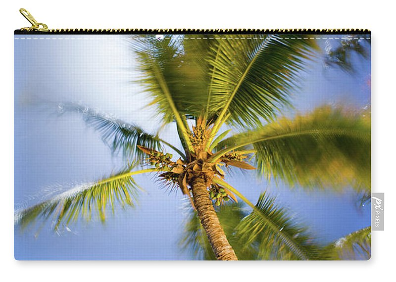 Antigua And Barbuda Carry-all Pouch featuring the photograph Waving Palm by Ferry Zievinger