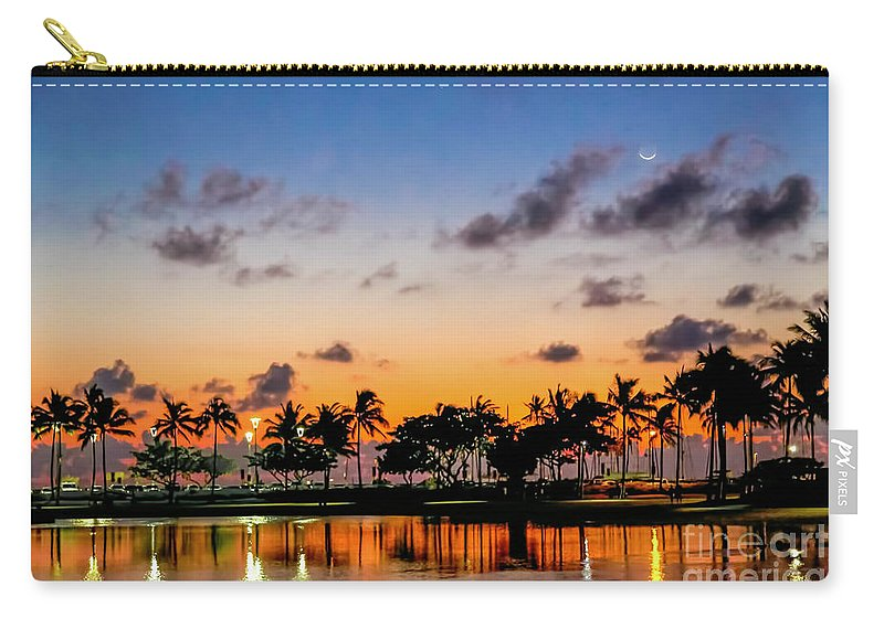 Waxing Crescent Carry-all Pouch featuring the photograph Waxing Crescent by Jon Burch Photography