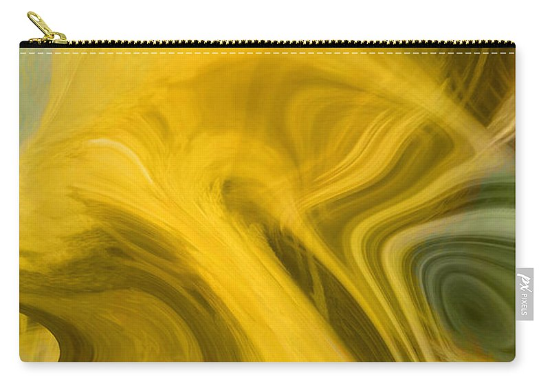 Abstract Art Carry-all Pouch featuring the digital art Way Out Of Here by Linda Sannuti