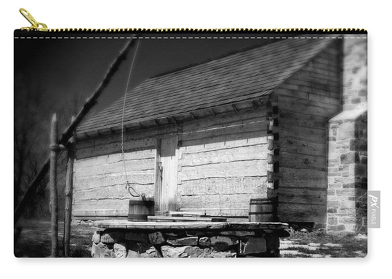 Army Carry-all Pouch featuring the photograph Way Station French And Indian War by Jean Macaluso