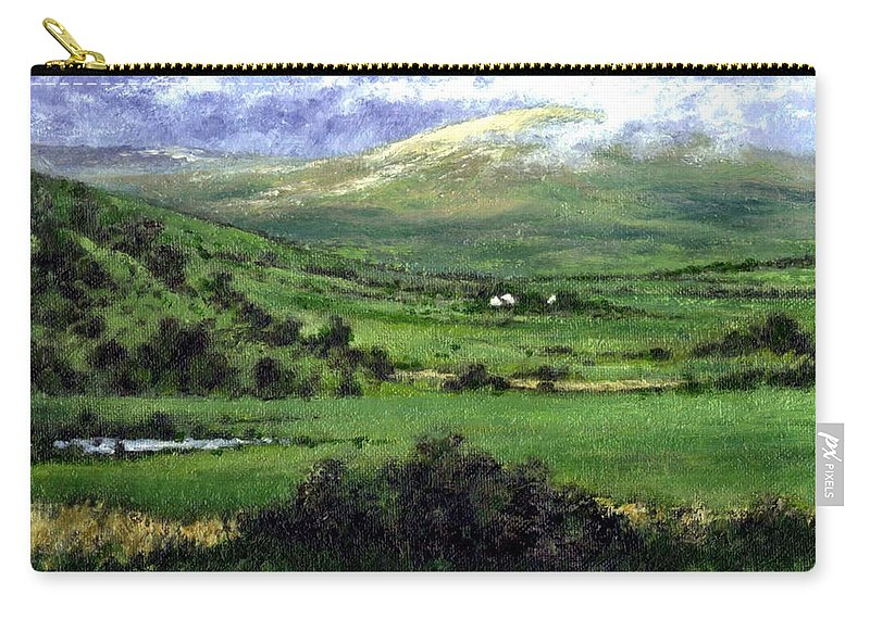 Landcape Carry-all Pouch featuring the painting Way To Ardara Ireland by Jim Gola