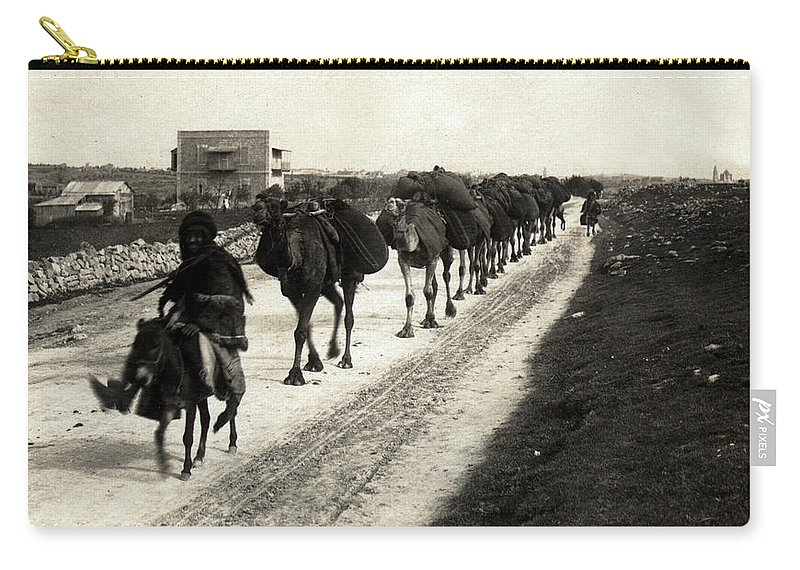 Christmas Carry-all Pouch featuring the photograph Way To Bethlehem by Munir Alawi