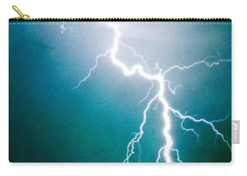 Lightning Carry-all Pouch featuring the photograph Way To Close For Comfort by James BO Insogna