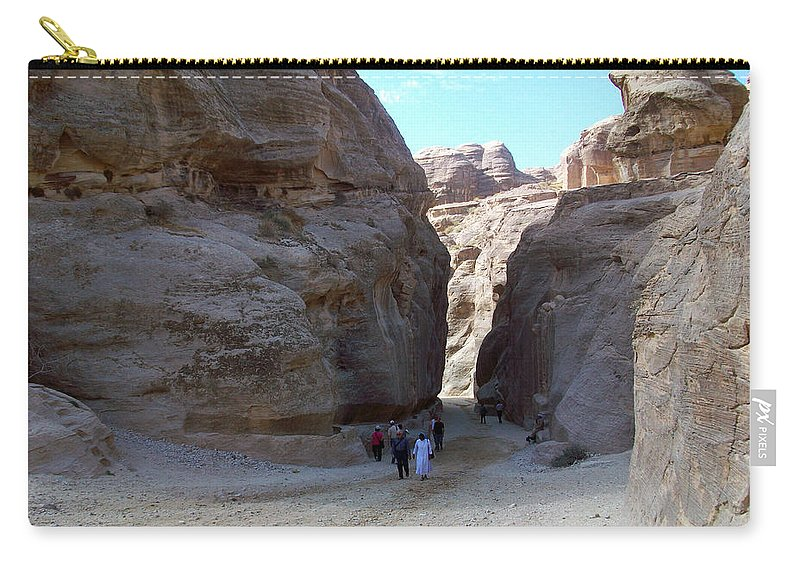 Petra Carry-all Pouch featuring the photograph Way To Petra by Munir Alawi