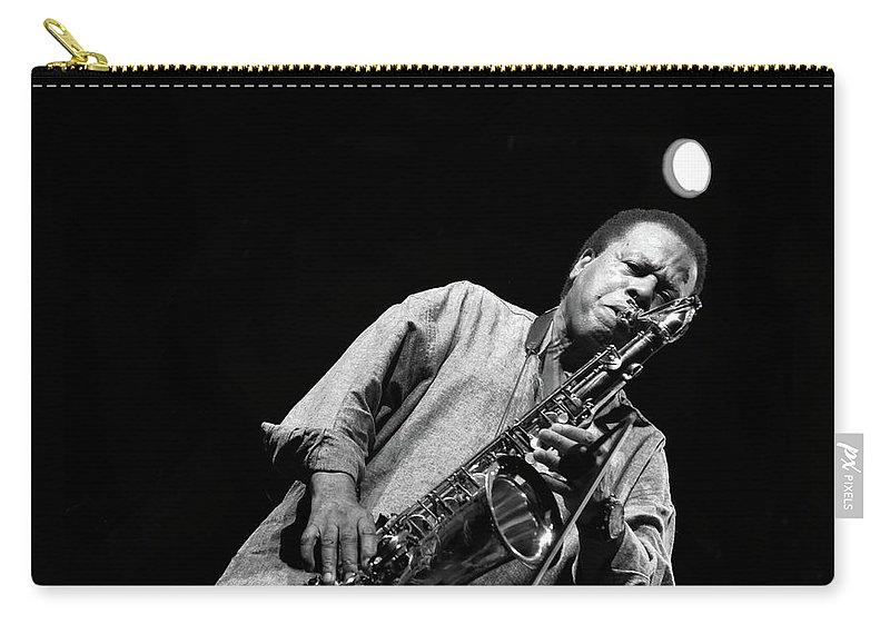 Wayne Shorter Carry-all Pouch featuring the photograph Wayne Shorter  by Jean Francois Gil