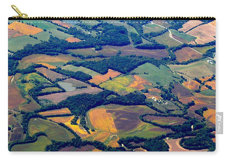 Landscape Carry-all Pouch featuring the photograph We Are In Kansas Toto by Lori Pessin Lafargue
